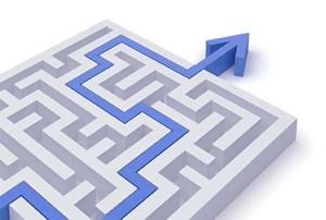 business intelligente, strategie della mente, vincere, progetto successo, labirinto